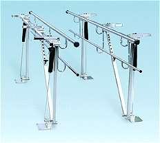 Adjustable Height & Width Floor Mounted Parallel Bars